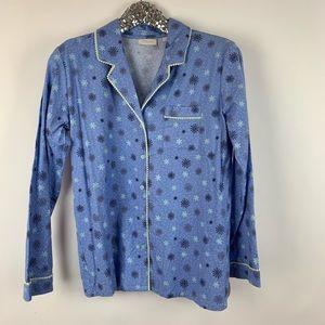 Nordstrom Snow Flake Button Pajama Set